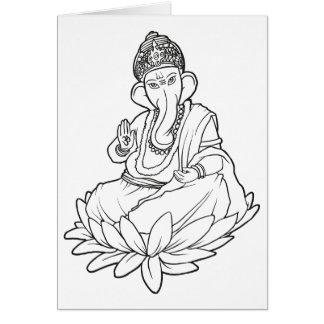 Segen Ganesha - b/w Version Karte
