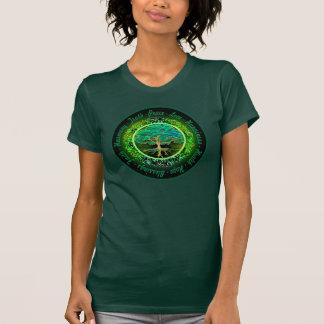 Segen, Glaube, Harmonie-Baum des Lebens im Grün T-Shirt