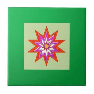SEGEN-MAGIE Hintergrund des STERNES grüne Billig Keramikfliese