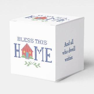 Segnen Sie diese Zuhause-Kreuz-Stich-Stickerei Geschenkschachtel