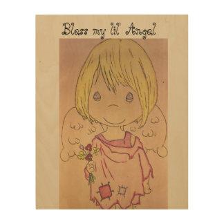 Segnen Sie meinen lil Engel… Holzwanddeko