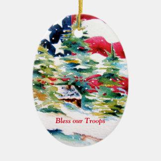 Segnen Sie unsere Truppe-Verzierung Keramik Ornament