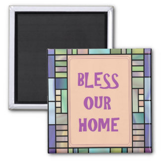 Segnen Sie unseren Zuhause-Magneten Quadratischer Magnet
