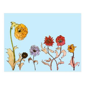 Sehen der Blumen Postkarte