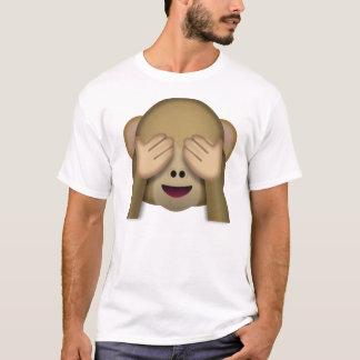 Sehen-Kein-Übel Affe emoji T-Shirt