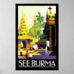 Sehen Sie Birma Plakate