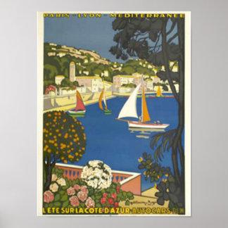 Sehen Sie das französische Riviera Poster