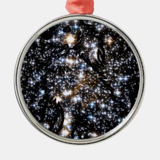 Sehen Sie den Hund im Raum Silbernes Ornament