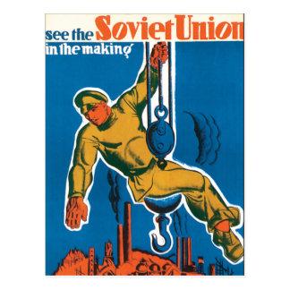 Sehen Sie die Sowjetunion in der Herstellung Postkarte