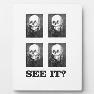 sehen Sie es, Kunst zu betrügen Fotoplatte