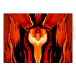 Sehen Sie Geist in den goldenen Flammen - Reiki, Karte