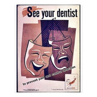 Sehen Sie Ihren Zahnarzt 21,6 X 27,9 Cm Flyer