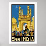 Sehen Sie Indien ~ Hyderabad Plakate