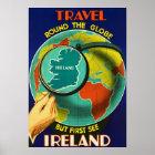 Sehen Sie Irland ~Vintage Iren-Reise-Plakat Poster