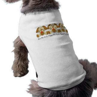Sehen Sie keine schlechten Welpen Ärmelfreies Hunde-Shirt