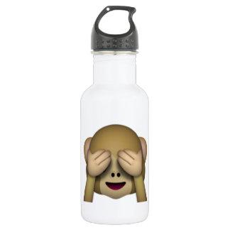 Sehen Sie keinen schlechten Affen - Emoji Edelstahlflasche