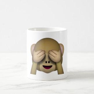 Sehen Sie keinen schlechten Affen - Emoji Kaffeetasse