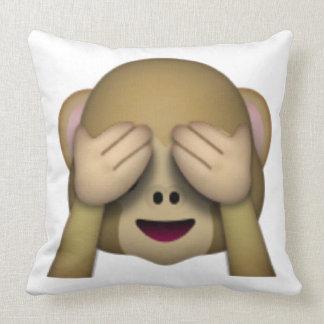 Sehen Sie keinen schlechten Affen - Emoji Kissen