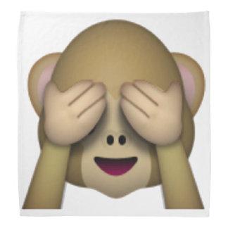 Sehen Sie keinen schlechten Affen - Emoji Kopftuch