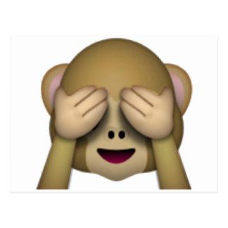 Sehen Sie keinen schlechten Affen - Emoji Postkarte