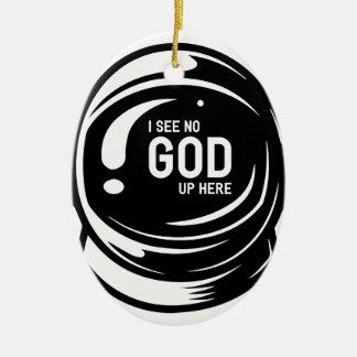 Sehen Sie nicht Gott Keramik Ornament