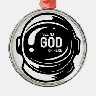 Sehen Sie nicht Gott Silbernes Ornament