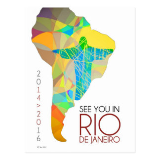 Sehen Sie Sie in Rio- de Janeiro - Südamerika-Post Postkarte