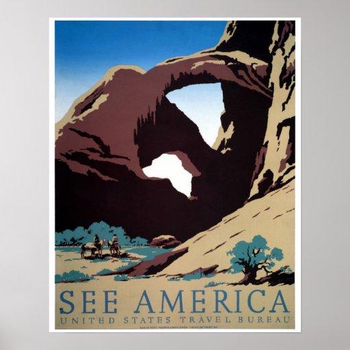 Sehen Sie Vintages WPA Reiseplakat Amerikas Plakate