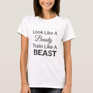 Sehen Sie wie ein Schönheits-Zug wie ein Tier aus T-Shirt