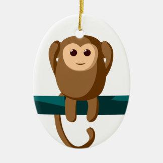 Sehen Sie zu hören, Affen zu sprechen Keramik Ornament