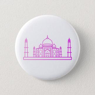 Sehenswürdigkeiten - Taj Mahal Knopf Runder Button 5,1 Cm