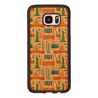 Sehenswürdigkeiten von USA Samsung Galaxy S7 Edge Holzhülle