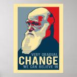 Sehr allmähliche Änderung, die wir herein glauben  Plakatdruck