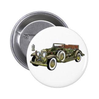 Sehr altes klassisches Auto Runder Button 5,1 Cm