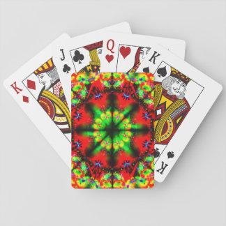 Sehr bunte Illusions-Mandala Spielkarten