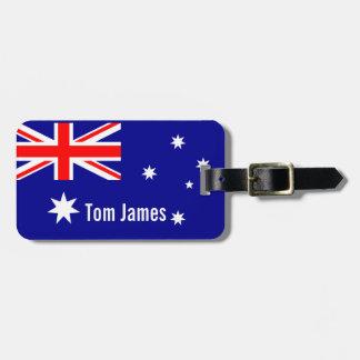 Sehr coole Flagge von Australien mit Monogramm Kofferanhänger