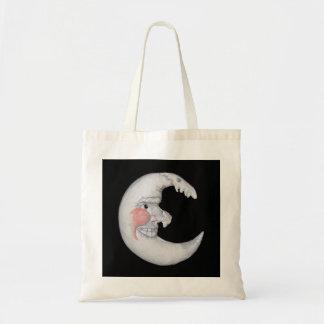 Sehr cooler Mann auf der Mond-abgerundeten Zahl Einkaufstasche