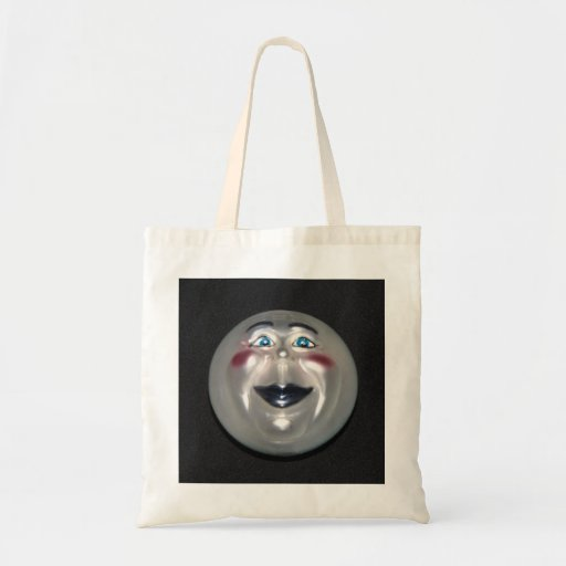 Sehr cooler Mann auf der Mond-Zahl Taschen-Tasche