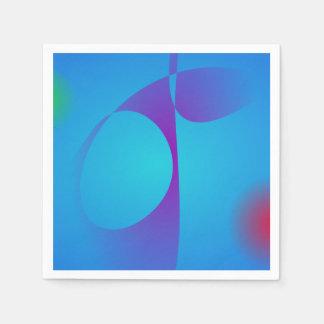 Sehr einfaches Aqua-blaue abstrakte Kunst Papierserviette