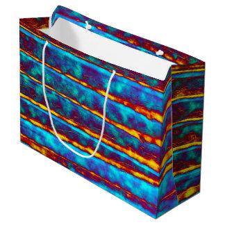 Sehr einzigartiges abstraktes Muster Große Geschenktüte