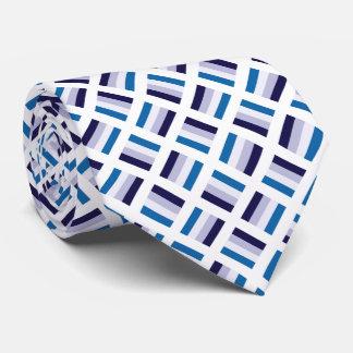 Sehr einzigartiges quadratisches Muster - blaues Krawatte
