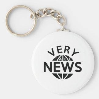 Sehr Fake-Nachrichten Schlüsselanhänger