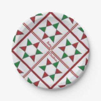 Sehr frohe gesteppte Weihnachten Pappteller