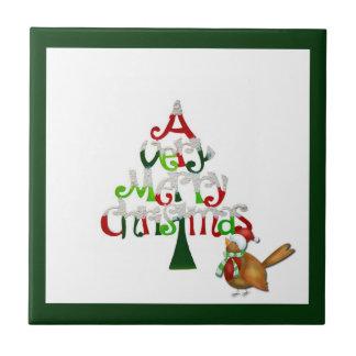 Sehr frohen Weihnachten Fliese