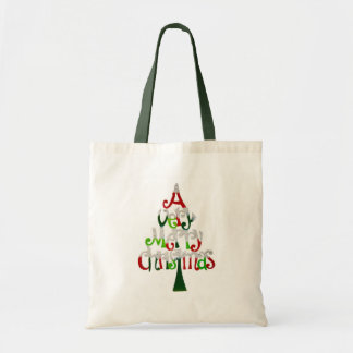 Sehr frohen Weihnachten Tragetasche