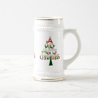 Sehr fröhlicher Weihnachtsbaum Bierglas