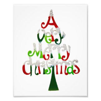 Sehr fröhlicher Weihnachtsbaum Fotodruck