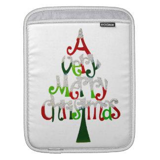 Sehr fröhlicher Weihnachtsbaum Sleeve Für iPads