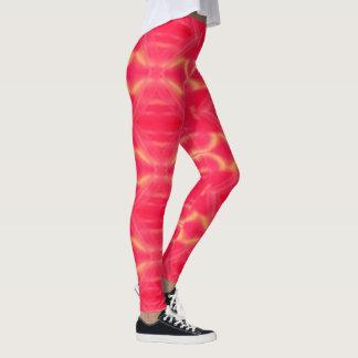Sehr Girly Pop-heißes Rosa-Pfirsich-Muster Leggings