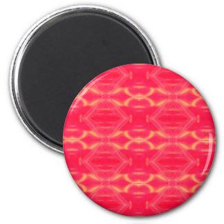 Sehr Girly Pop-heißes Rosa-Pfirsich-Muster Runder Magnet 5,7 Cm